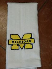 White Embroidered Finger Tip Towel - Michigan Wolverines