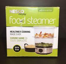 Vegetable Food Steamer BPA-Free 5 Quart / 2 Tier/ 3 Cup Rice Bowl / 400 watt