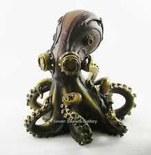 """Octo-Steam"" Steampunk Octopus Kraken Statue Figurine Pulpo Ornament Figure NEW"