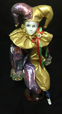 Porcelain Musical Clown Doll With Stand