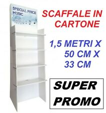 ESPOSITORE SCAFFALE 4 RIPIANI IN CARTONE 1,5 MT X 50 X 33 CM NEGOZI CASA BRICO