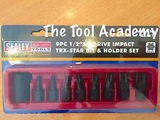 Torx Star Impact Socket Bit Set 1/2 Drive T30 T40 T45 T47 T50 T55 T60 T70 + Tray
