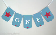 1st Birthday party bunting banner boy- ONE - bunting decoration