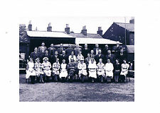 PHOTOGRAPH MOBILE FIRST AID POST EUR PUBLIC HOUSE 1940 WITH STAFF
