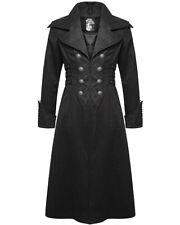 Punk Rave Hombre Steampunk Abrigo Negro Gótico Victoriano Caballero Aristocrat