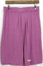 Knee-Length Rayon Pleated Regular Size Skirts for Women