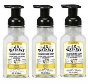 3PCS J.R Watkins Foaming Hand Soap Lemon 9 Fl.OZ EachX3