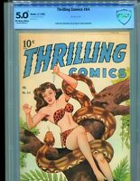 Thrilling Comics 64 CBCS 5.0 CGC Xela Schomburg cover Frank Brunner collection!!