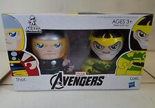 HASBRO MIGHTY MUGGS MINI FIGURE SET MARVEL THOR LOKI AVENGERS 3+