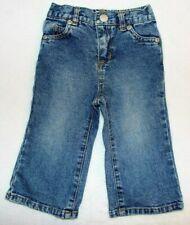 Steve & Barry's Baby Girls Stretch Waist Blue Jeans Size 12 Months Heart Pockets