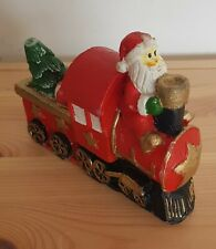 Vintage Christmas Candle, Santa And Steam Engine Candle with 2 Wicks