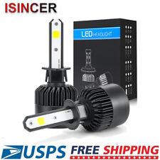 2x H1 CREE LED Headlight Bulb Kit 1500W 225000LM High Beam Xenon 6000K White US