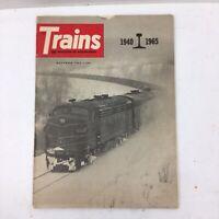 Trains The Magazine Of Railroading November 1965