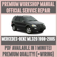 *WORKSHOP MANUAL SERVICE & REPAIR GUIDE for MERCEDES-BENZ ML320 1998-2005+WIRING