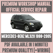 WORKSHOP MANUAL SERVICE & REPAIR GUIDE for MERCEDES-BENZ ML320 1998-2005+WIRING