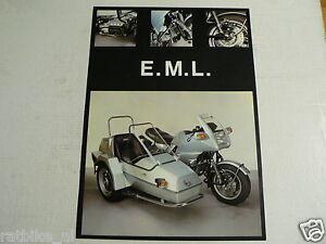 D721  BROCHURE EML BMW K100 ? SIDECAR COMBINATION PROSPEKT,FOLDER
