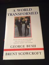 RARE PRESIDENT GEORGE H.W. BUSH SIGNED BOOK 'A WORLD TRANSFORMED' AUTOGRAPH 1998