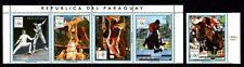 Olympic Paraguay 1989 strip of stamps Mi#4423-26,4427 MNH CV=12€
