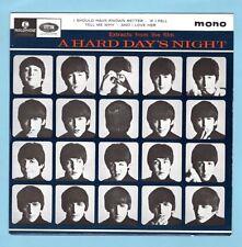 "THE BEATLES HARD DAY'S NIGHT EP 7"" VINYL 4-TRACKS PARLOPHONE #GEP-8920 w/SLEEVE"
