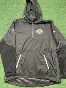 New York Jets Nike NFL On Field Apparel Pull Over Windbreaker Jacket Adult XL