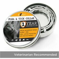 Rokey Flea Collar for Cats - 1 Year Protection - One Size Fits All