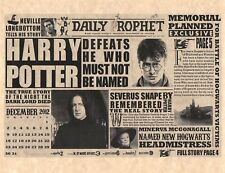Daily Prophet Harry Potter Defeats He Who Must Not Be Named Flyer Prop/Replica