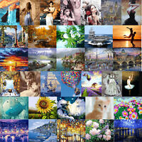 Digital Painting By Number Kit DIY Sunset Lovers Canvas Oil Art Picture Mosaic