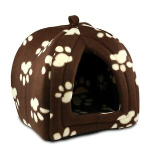 Pop up Pet Hut Great For Smaller Cats and Dogs - Fleece Construction Soft & Warm