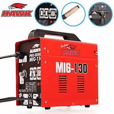 HAWK 130 PORTABLE WELDER 230V NO GAS GASLESS MIG FLUX WELDING MASK MACHINE KIT