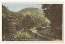 The Way To The Three Streams & Dinas Llanfairfechan Vintage Postcard 909b