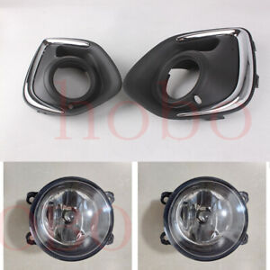 4x For Mitsubishi Outlander Sport ASX 2013-2015 Front Left Right Fog Light Cover