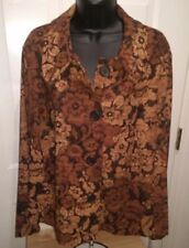 Briggs New York NWT Womens Plus Multi Color Floral Button Down Shirt Top Sz 20W