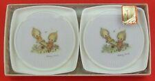 Vintage Hallmark Betsey Clark Set of 4 Plastic Coasters Friends On Teeter Totter