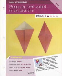 Origami pliage papier Base Fiche Technique n°6 Base du cerf-volant & du diamant