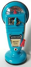 Rare Vintage Meter Lamp MF-308 China Blue Plastic Toy Bank With Light