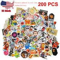 200 Random music film Vinyl Skateboard Guitar Travel Case pack sticker decals