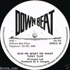 "Down Beat 12"": Tony Tuff-Dame lo que yo quiero (escuchar) Reggae Roots"