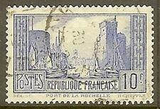 "FRANCE TIMBRE STAMP N°261 b "" PORT DE LA ROCHELLE 10 F TYPE I "" OBLITERE TB"