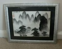 Contemporary Chinese charcoal and ink landscape painting on paper  -no 1