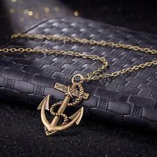Comeon Women 18.1 Antique Bronze Anchor Pendant Chain Necklace 43x30mm Jewelry
