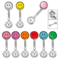 New Smile Face Round Clip-on Nurse Doctor Brooch Pendant Fob Pocket Quartz Watch