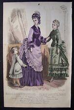 A10 - gravure mode Magasin des demoiselles - Rigolet, Cazal - 1874