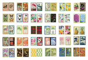 Entertaining with Caspari Double Deck of Bridge Playing Cards, Many designs