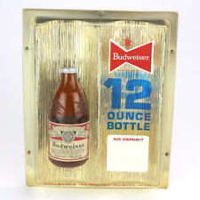 Vintage Budweiser 12 Ounce Bottle Sign 1960's