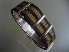 Relojes pulsera nailon 22 mm negro rojo verde otan banda hebilla textil