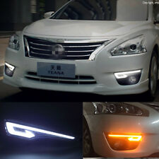 Exact Fit Nissan Altima 2013-15 Switchback LED DRL Lights Fog Lamp w/Turn Signal