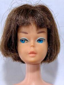 Vintage Barbie American Girl Doll JAPAN Bendable Leg Brunette Lgt. Coral Lips