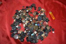Lot 500gr anciens boutons : Plastique Métal pour Vétement d'Epoque Costume