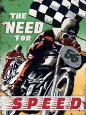 Need For Speed Metal Motocicleta Cartel De Publicidad 30x40cm Placa de pared