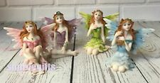 More details for new fairy figures - set of 4 small 6cm fairy world figurines great gift